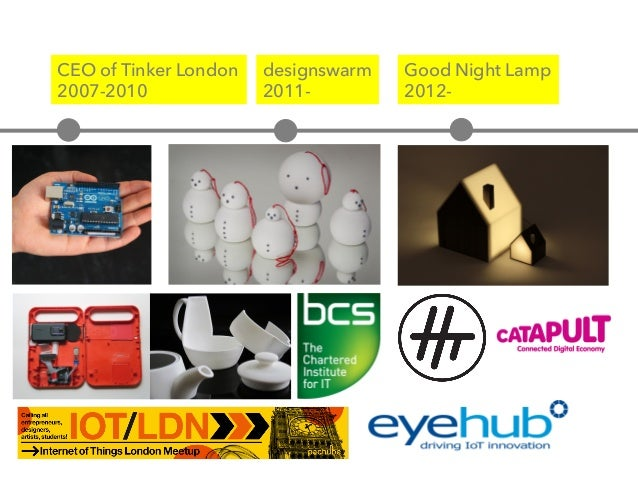 CEO of Tinker London 2007-2010 Good Night Lamp 2012- designswarm 2011-