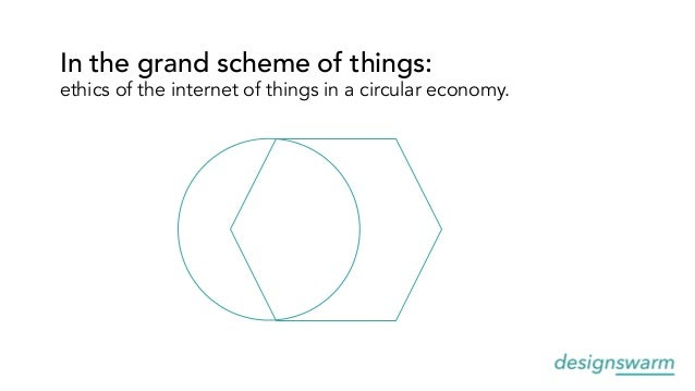 In the grand scheme of things: ethics of the internet of things in a circular economy.