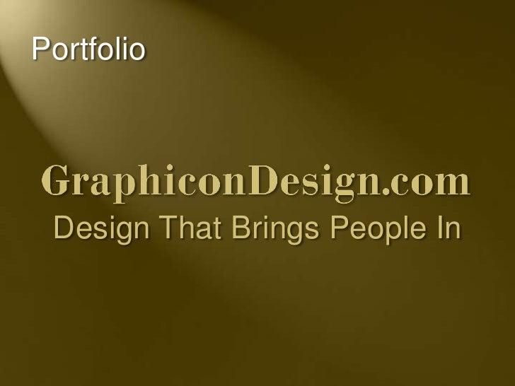 Portfolio Design That Brings People In