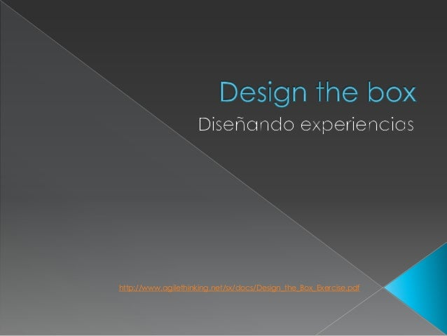 http://www.agilethinking.net/sx/docs/Design_the_Box_Exercise.pdf