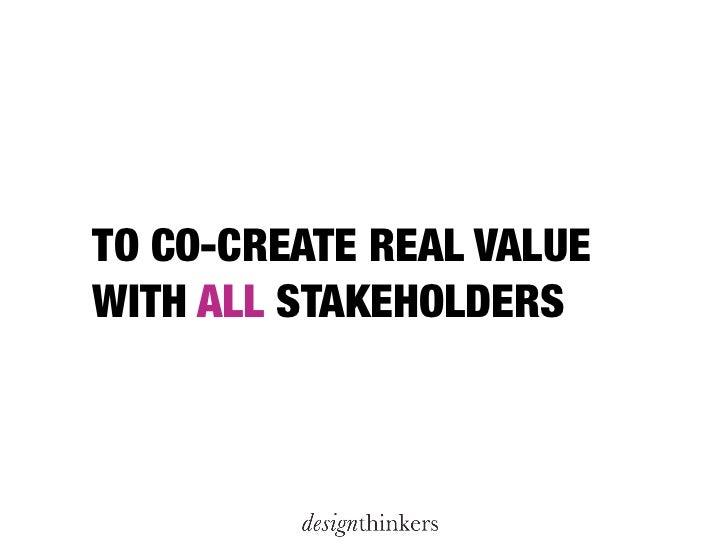 DesignThinkers presentation at the Aegon Marketing Conference 2011