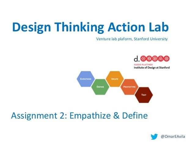 @OmarEAvila Venture lab plaform, Stanford University Assignment 2: Empathize & Define Design Thinking Action Lab