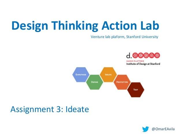 @OmarEAvila Venturelabplaform,StanfordUniversity Assignment3:Ideate Design Thinking Action Lab