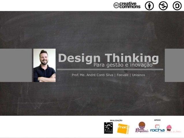 Design ThinkingPara gestão e inovação Prof. Me. André Conti Silva | Feevale | Unisinos