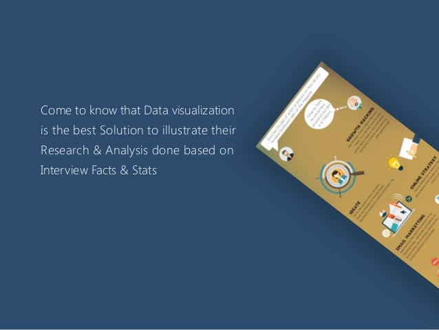 Come to know that Data visualization is the best Solution to illustrate their Research & Analysis done based on Interview ...