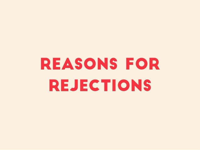 Reasons for rejections
