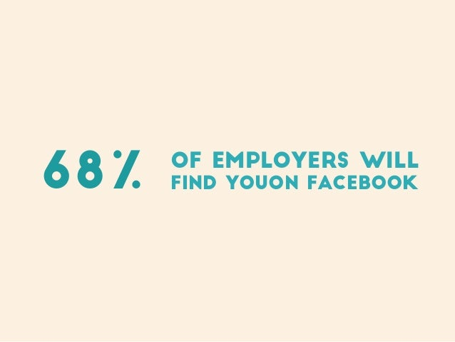 of employers will find youon Facebook68%