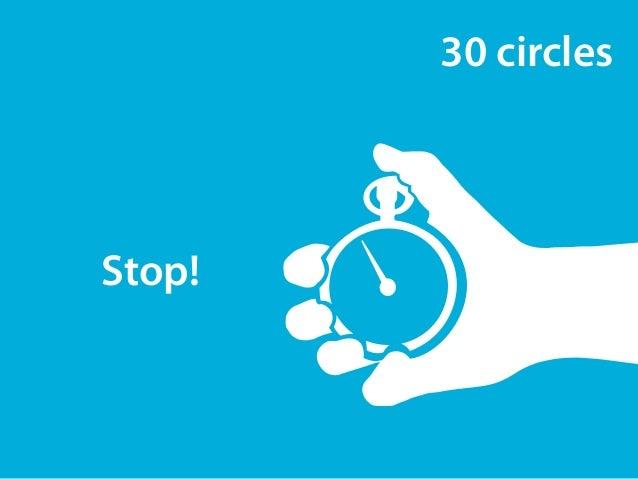 30 circles  Stop!