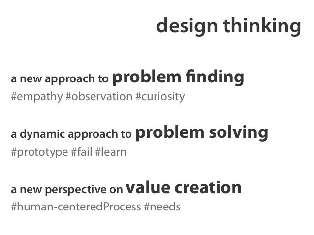 design thinking  a new approach to problem finding  #empathy #observation #curiosity  !  a dynamic approach to problem sol...
