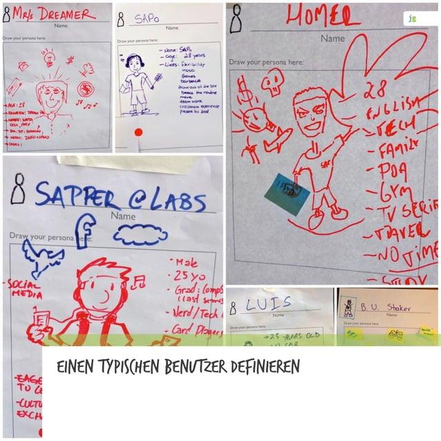 Prototypen ermöglichen Interaktionen Interaktionen, durch die wir etwas über unser Problem, unsere Lösungsidee(n) oder uns...