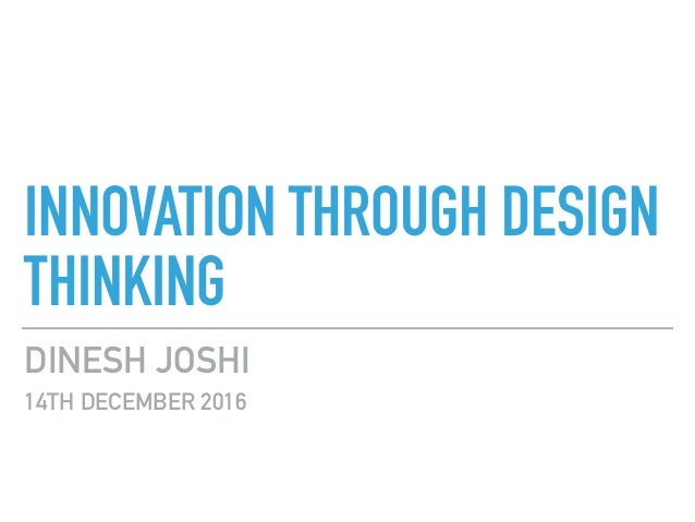 Innovation through Design Thinking - photo#17
