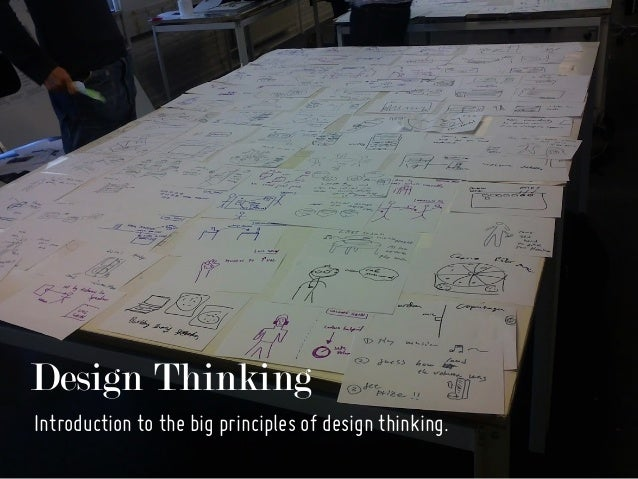 Design Thinking Introduction to the big principles of design thinking.