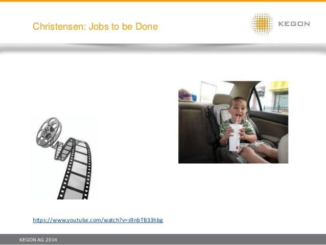 KEGON AG 2014 Christensen: Jobs to be Done https://www.youtube.com/watch?v=s9nbTB33hbg