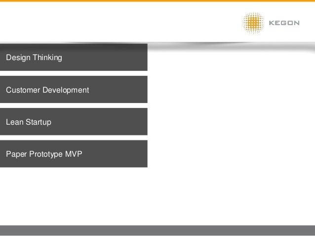Design Thinking Lean Startup Customer Development Paper Prototype MVP