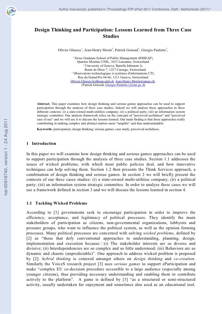 """Author manuscript, published in """"Proceedings IFIP ePart 2011 Conference, Delft : Netherlands (2011)""""                      ..."""