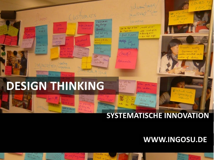 DESIGN THINKING                    SYSTEMATISCHE INNOVATION                            WWW.INGOSU.DE