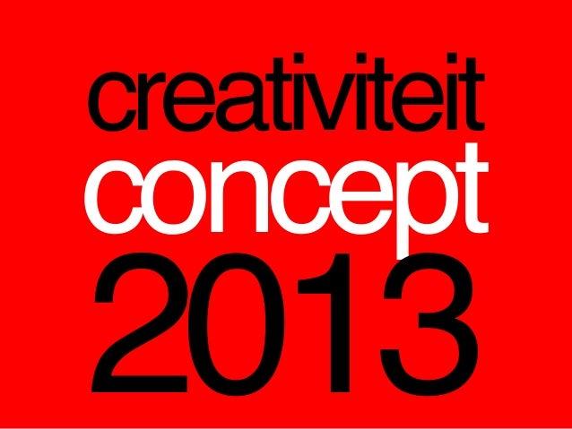 creativiteitconcept2013