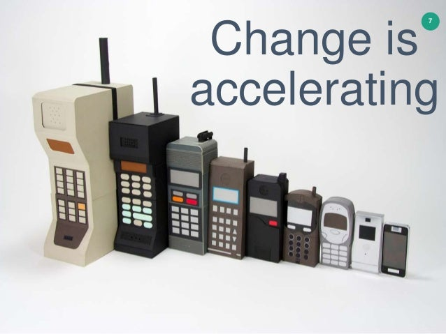 Change is accelerating 7