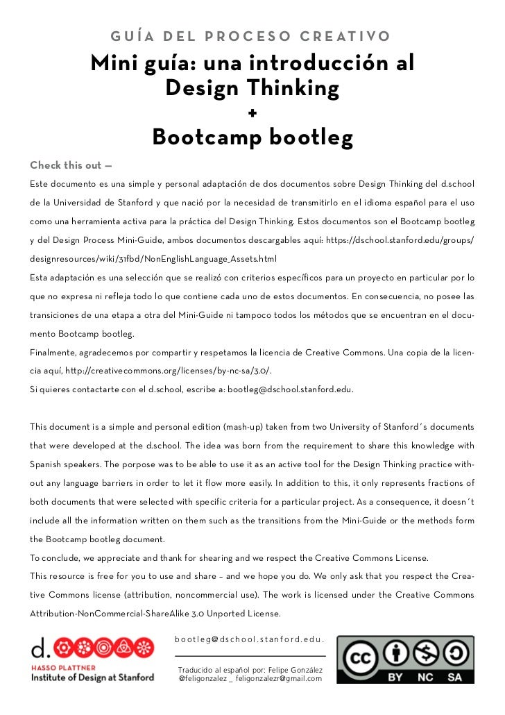 design thinking bootleg Check this out ̶ it's the dschool bootcamp bootleg uploaded by  design thinking & creativity  pensar design é mais que design thinking — trendr .