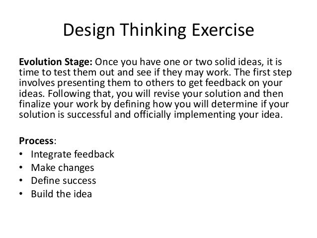 Design thinking the hill school