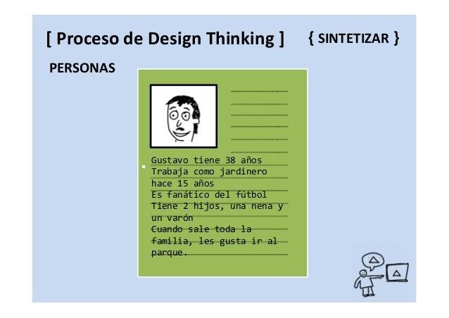 Brainstorming Aplicar restricciones Exagerar las ideas Partir de algo existente { IDEAR }[ Proceso de Design Thinking ]
