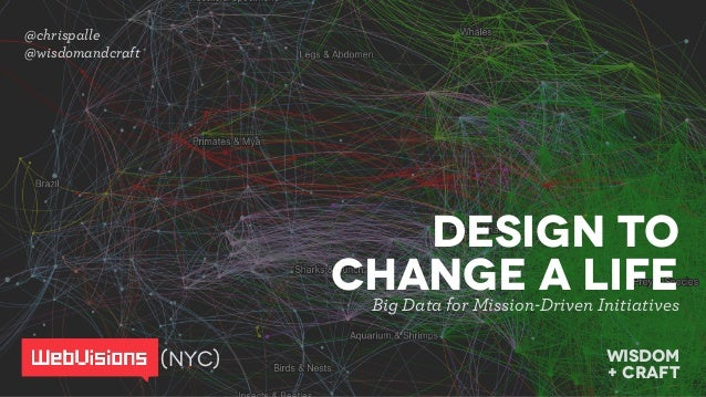 @chrispalle @wisdomandcraft wisdom  + craft Design to change a LifEBig Data for Mission-Driven Initiatives (NYC)