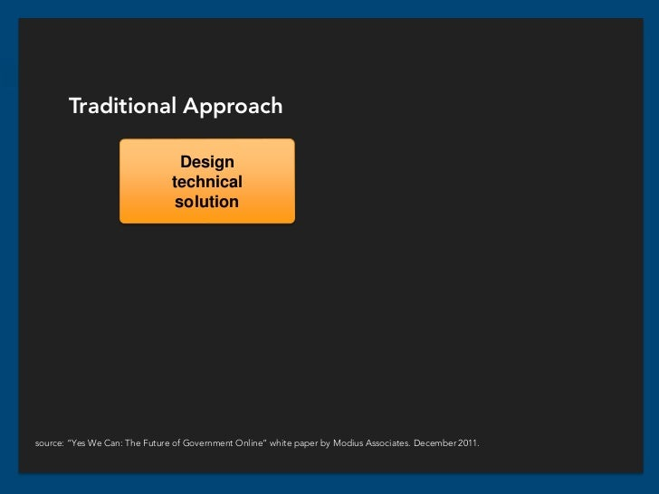 Traditional Approach                                 Design                               technical                       ...
