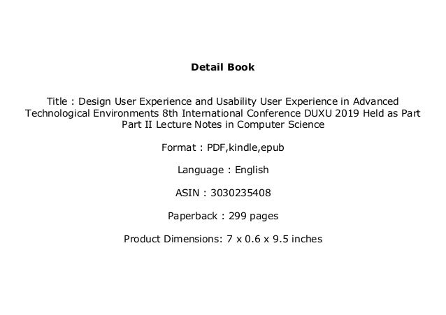 Epub Download Library Design User Experience And Usability User E