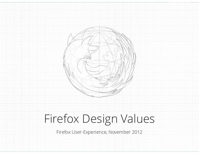 Firefox Design Values Firefox User-Experience, November 2012