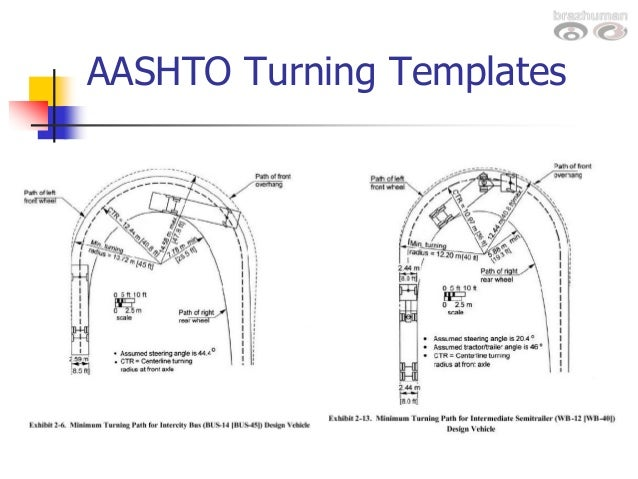 Design vehicles turning radii washburn for Design vehicles and turning path template guide