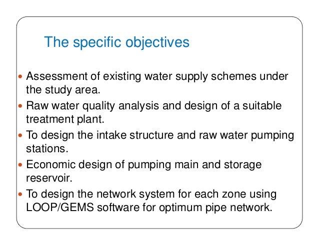 Design water supply scheme