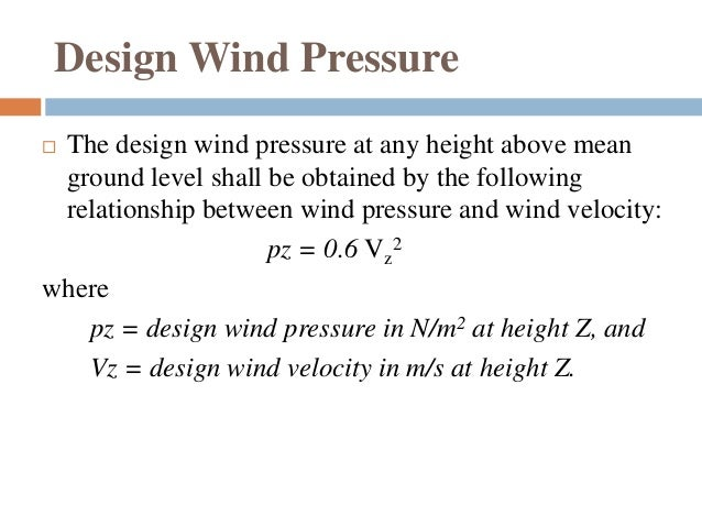 Design wind load
