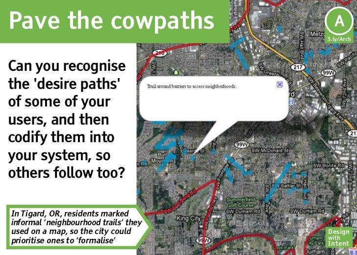 Pave the cowpaths                       Ar                                        A                                       ...