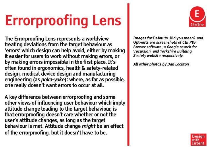 EErrorproofing Lens                                                                         3.ly/ErroThe Errorproofing Len...