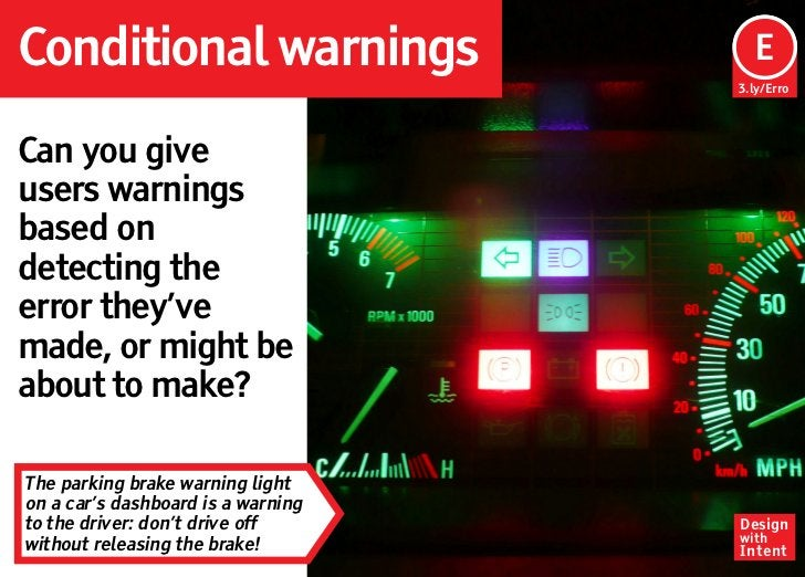 Conditional warnings                 Ep                                     E                                    3.ly/Erro...