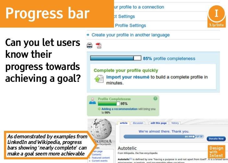 Progress bar                          In                                       I                                     3.ly/...