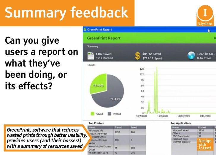 Summary feedback                            I                                           In                                ...