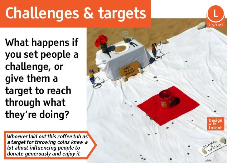 Challenges & targets                    L                                      3.ly/LudiWhat happens ifyou set people acha...