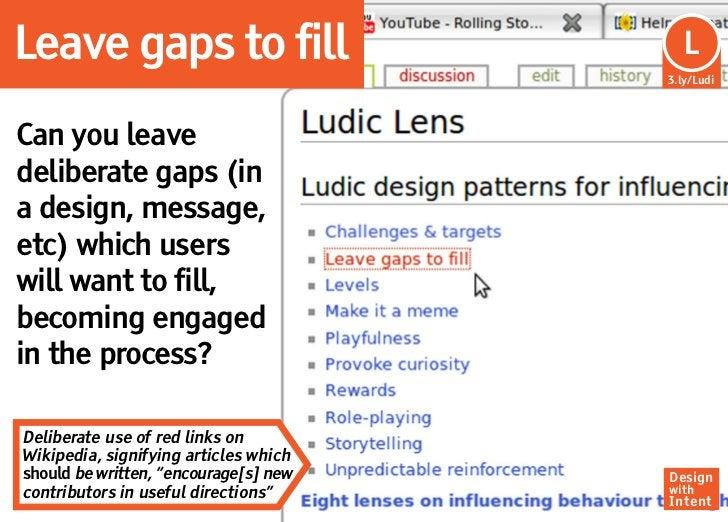 Leave gaps to fill                      Lu                                         L                                      ...
