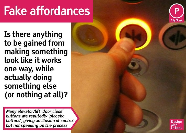 Fake affordances                           Pe                                           P                                 ...