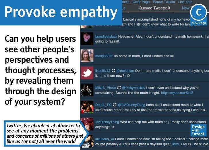 Provoke empathy                           Cg                                          C                                   ...