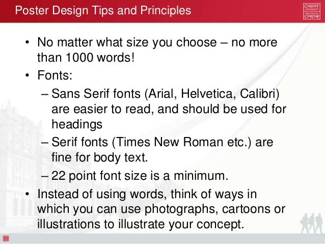 A0 poster font size