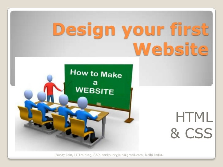 Design your first        Website                                                                      HTML                ...