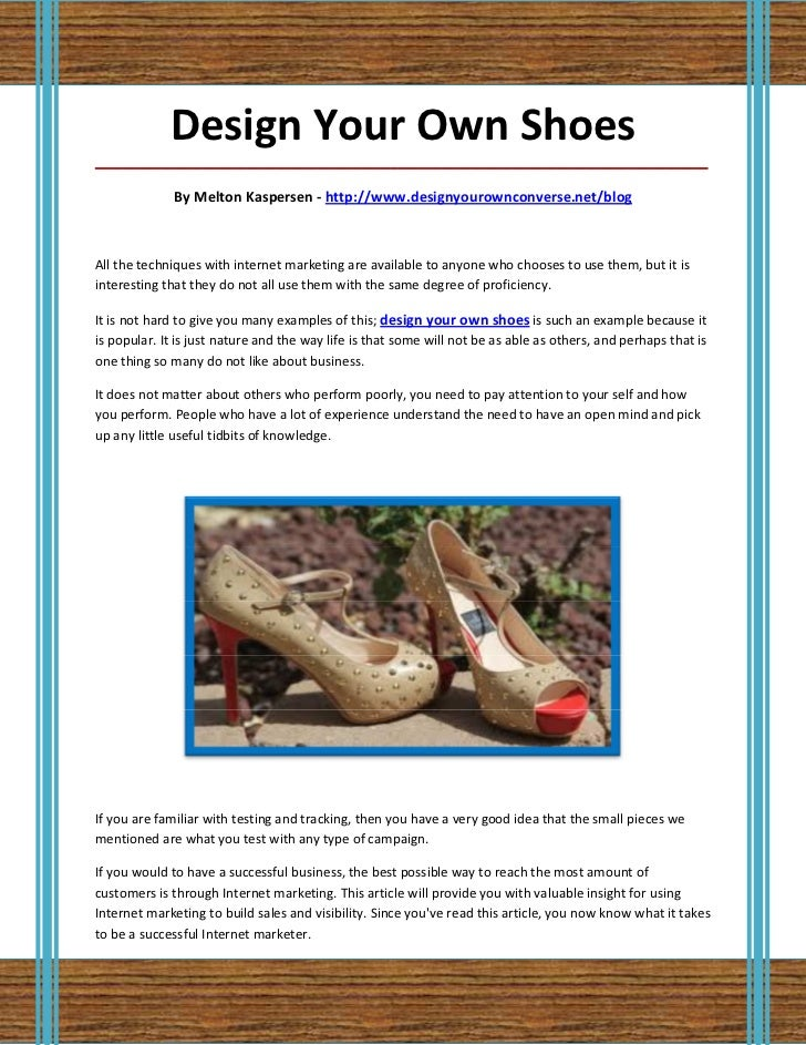 Design Your Own Shoes_____________________________________________________________________________________              By...