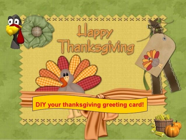 DIY your thanksgiving greeting card!