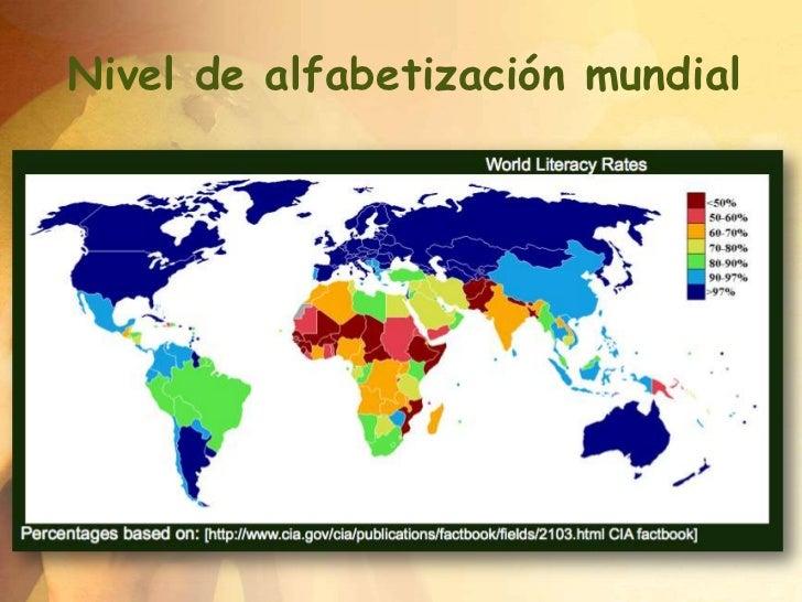 Nivel de alfabetización mundial