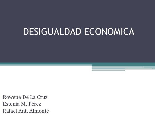 desigualdad economica resumen