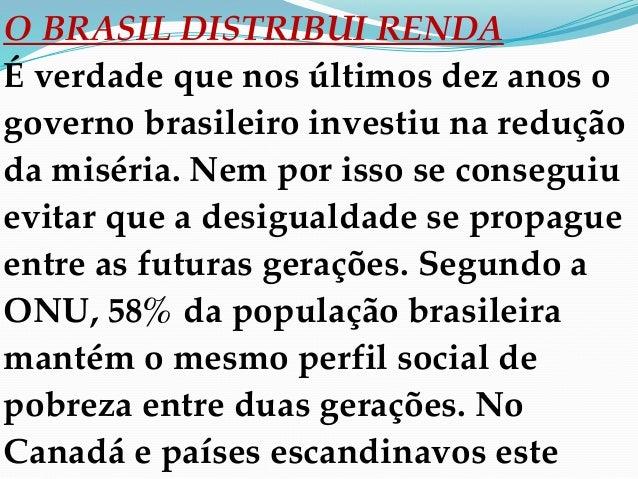 Slides da aula de Sociologia (Luciano) sobre Desigualdade Social