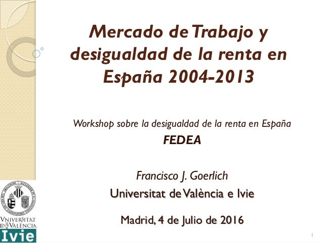 Mercado de trabajo y desigualdad de la renta en espa a - Trabajo de jardinero en madrid ...