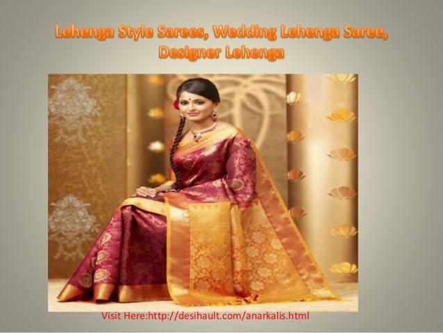 Best Lehenga Style Sarees, Wedding Lehenga Saree, Designer Lehenga Slide 3